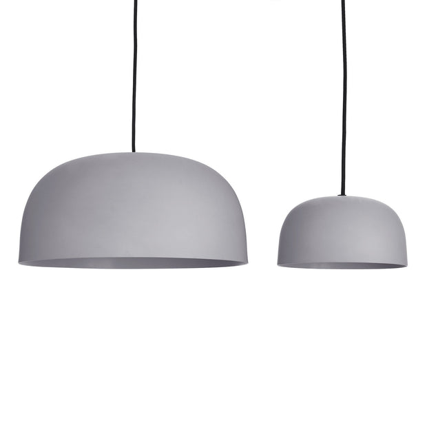 Murguma pendant lamp, light grey, 100% metal | URBANARA pendant lamps