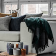 Karby Wool Blanket in dark green & grey melange | Home & Living inspiration | URBANARA