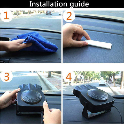 Portable Car 12V Heater Electric Plug In Cigarette Lighter Into Heaters