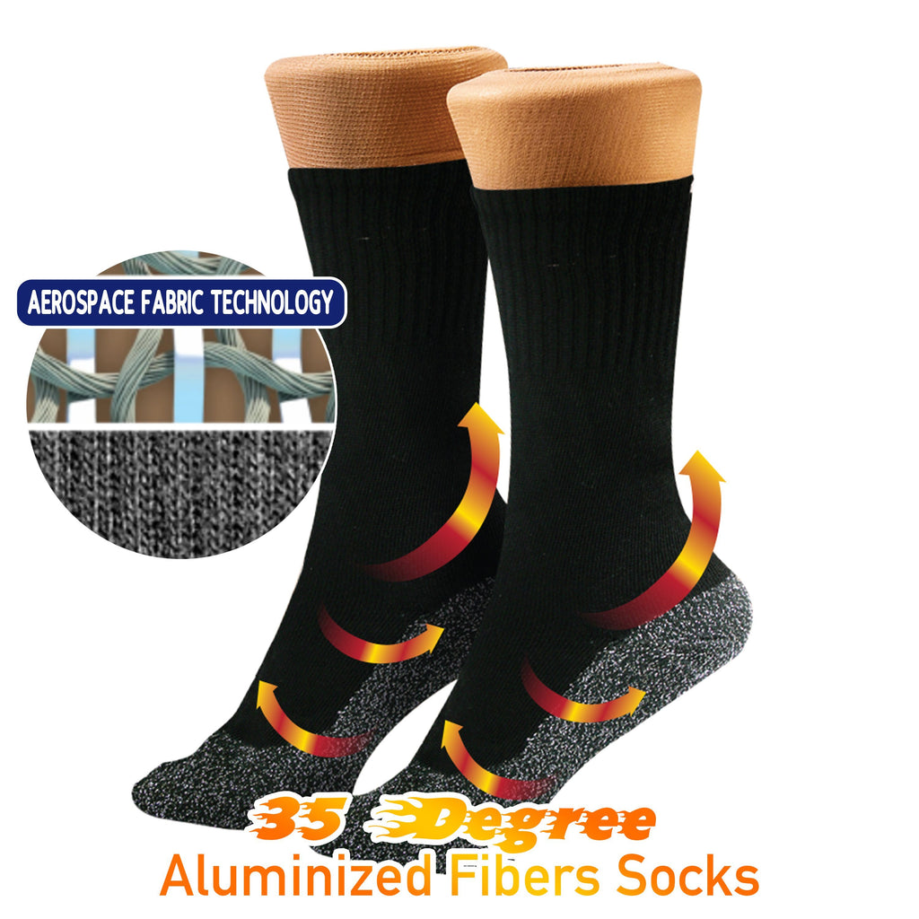 35 Degree Aluminized Fibers Socks