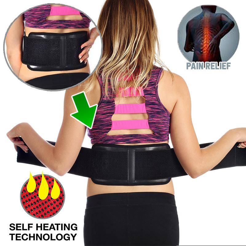 Self-Heating Magnetic Back Supporter
