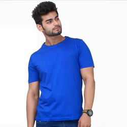 Plain Royal Blue Half Sleeve T-Shirt
