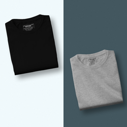 Grey/Black - Pack of 2 T-Shirts