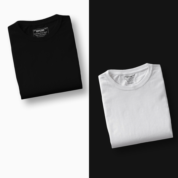 Black/White - Pack of 2 T-Shirts