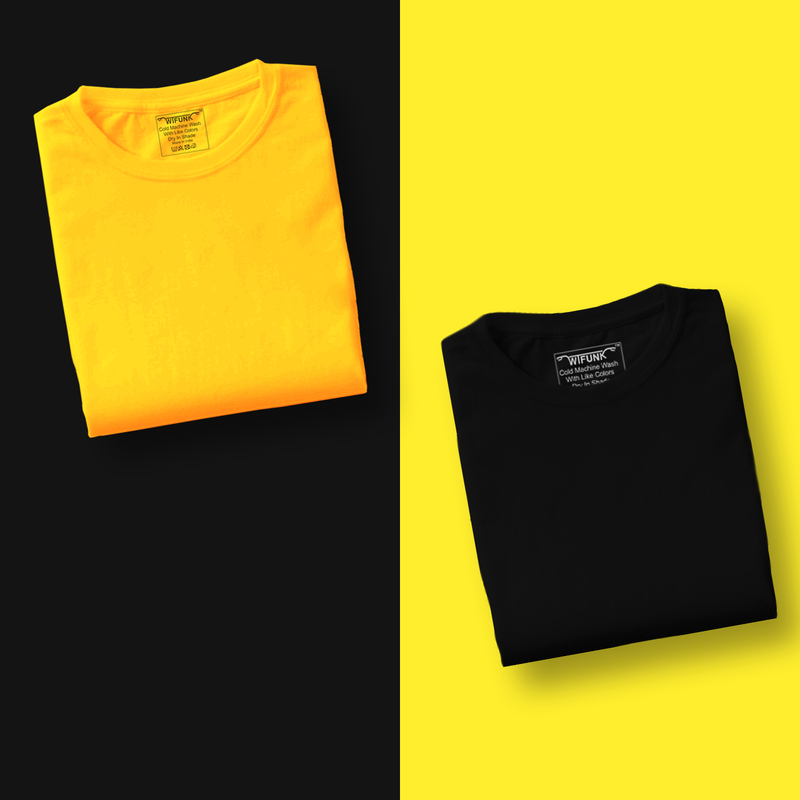 Black/Yellow - Pack of 2 T-Shirts