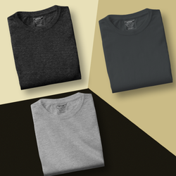Grey Combo - Pack of 3 T-Shirts