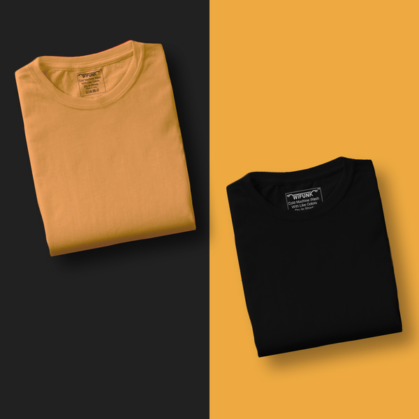 Mustard/Black - Pack of 2 T-Shirts