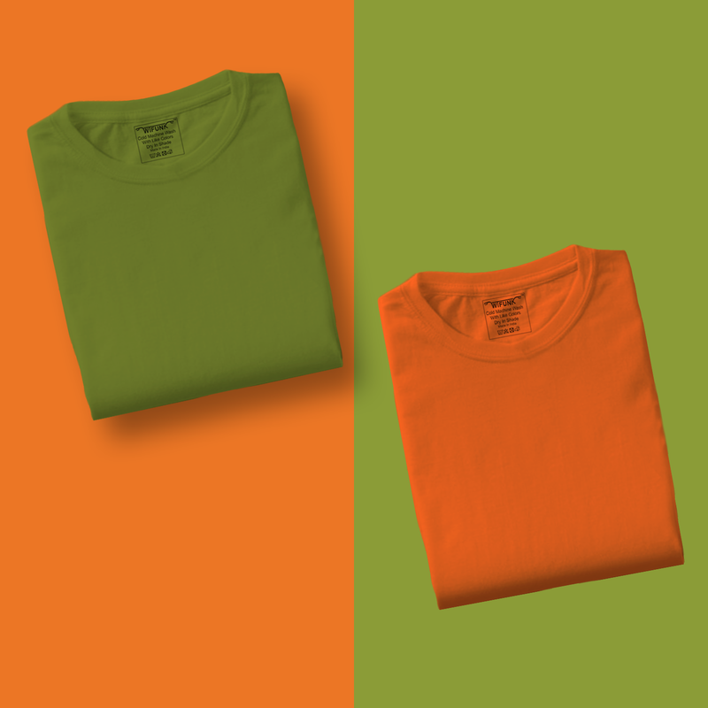 Green/Orange - Pack of 2 T-Shirts