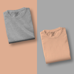 Peach/Grey - Pack of 2 T-Shirts
