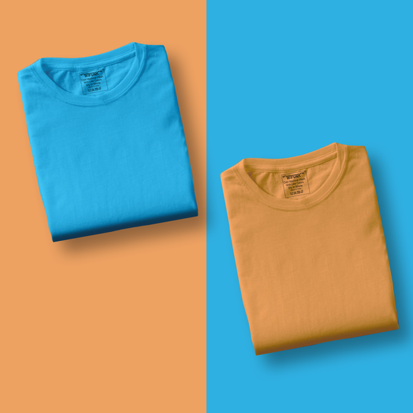 Mustard/Sky Blue - Pack of 2 T-Shirts
