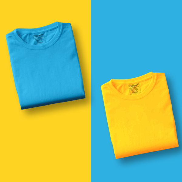 Sky Blue/Yellow - Pack of 2 T-Shirts