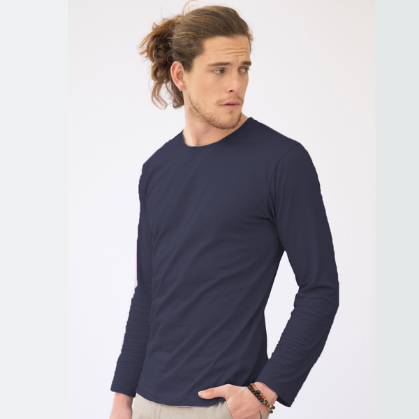 Plain Navy Full Sleeve T-Shirt