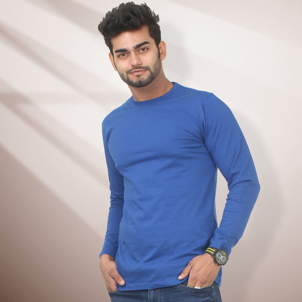Plain Royal Blue Full Sleeve T-Shirt