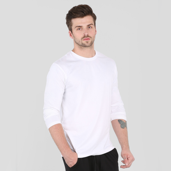 Plain White Full Sleeve T-Shirt