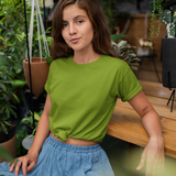 Plain Green Half Sleeve T-Shirt