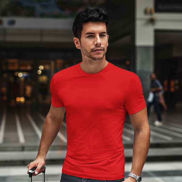 Plain Red Half Sleeve T-Shirt