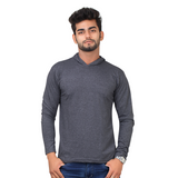 Plain Dark Grey T-Shirt Hoodie