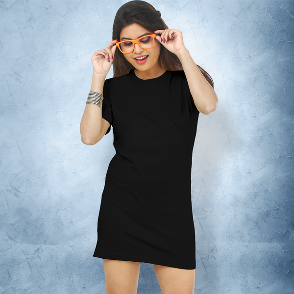 Plain Black T-Shirt Dress