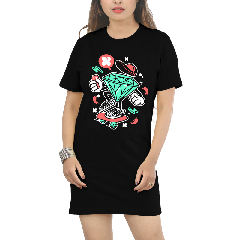 Big Rock | Cotton T-Shirt Dress - WTFUNK