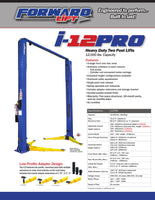 Forward I12 Pro 2 Post 12,000lb Lift