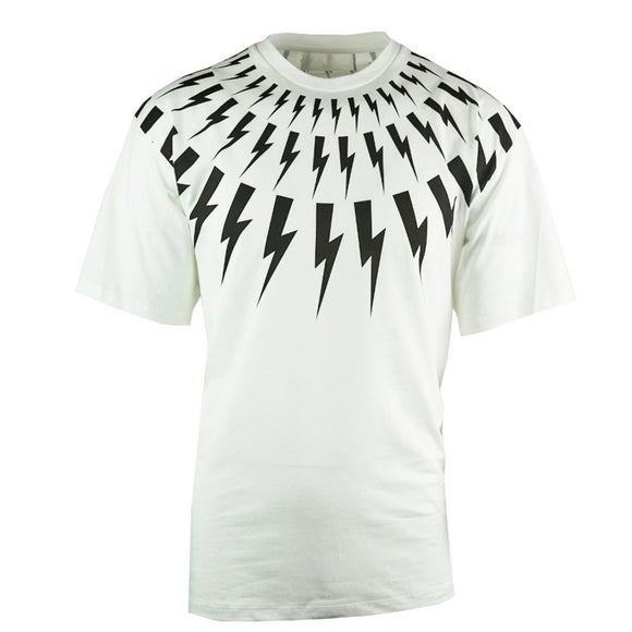Neil Barrett BJT726S N503P 526 Oversized White T-Shirt