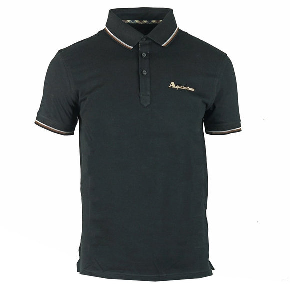 Aquascutum QMP024 02 Black Polo Shirt