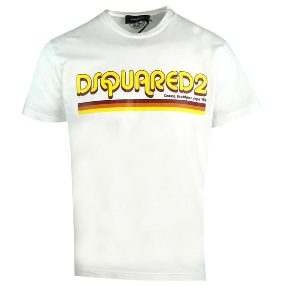 Dsquared2 Cool Fit S71GD0887 S22427 100 White T-Shirt