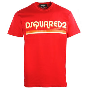 Dsquared2 Cool Fit S71GD0887 S22427 312 Red T-Shirt