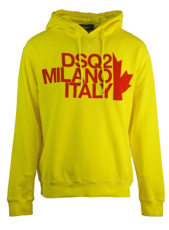 Dsquared2 Cool Fit Milano Yellow Hoodie - Nova Designer Clothing Luxury Mens