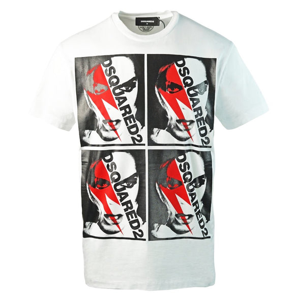 Dsquared2 S74GD0485 S22844 100 White T-Shirt