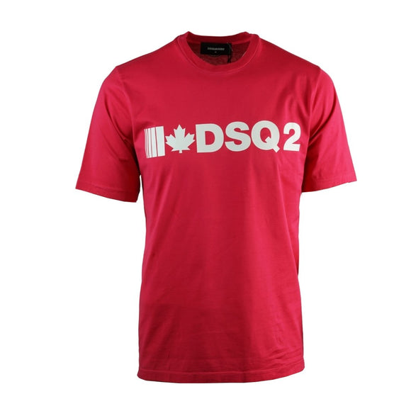 Dsquared2 S74GD0568 S22427 254 Slouch Fit Red T-Shirt