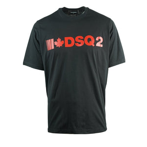 Dsquared2 S74GD0568 S22427 900 Slouch Fit Black T-Shirt