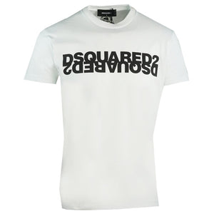 Dsquared2 Cool Fit Black S74GD0635 S22427 963X White T-Shirt