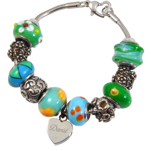 Remembrance Beads Eternal Green Charm Bracelet