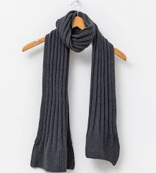 Scarf Rib Knit Grey
