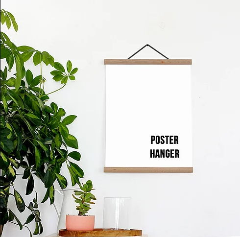 Poster Hanger - Solid Oak magnetic