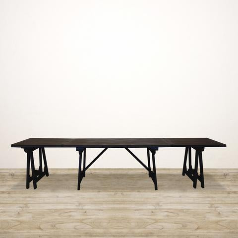 Loire Trestle extending Dining Table, black