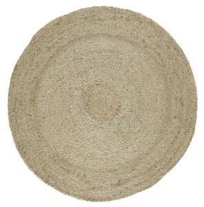 Braided Hemp Round carpet rug