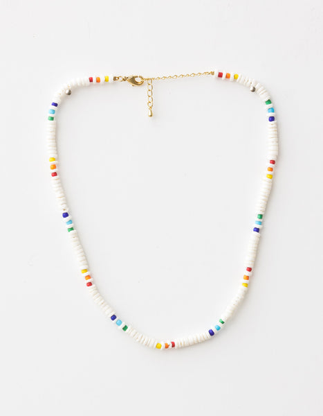 Necklace White/Coloured Beads