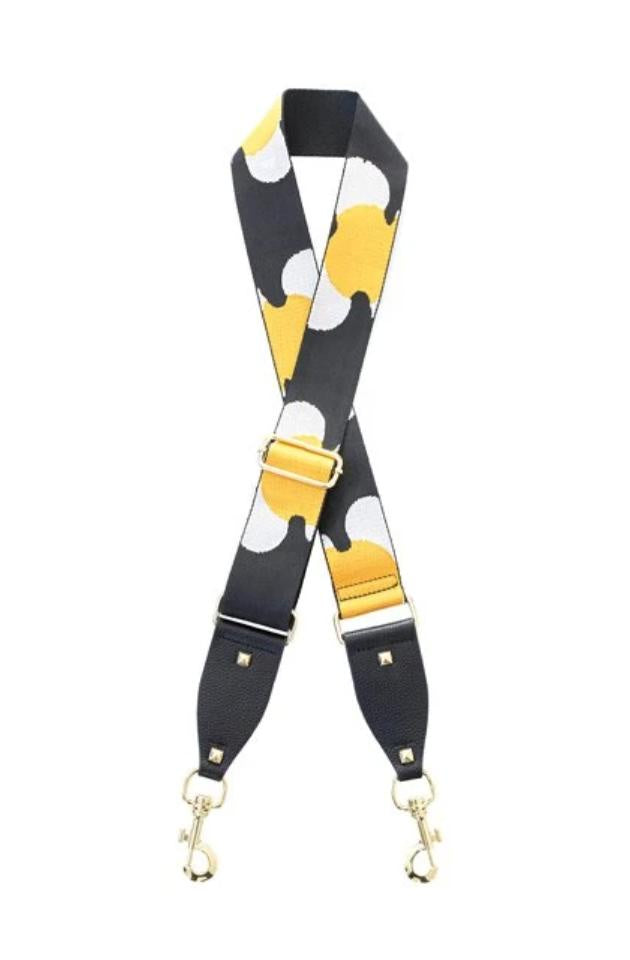 Bag Strap - White & Yellow Flower