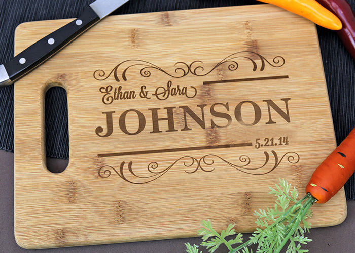 Personalized Easy Carry  Medium Cutting Board