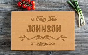 Personalized Beautiful Large Cutting Board