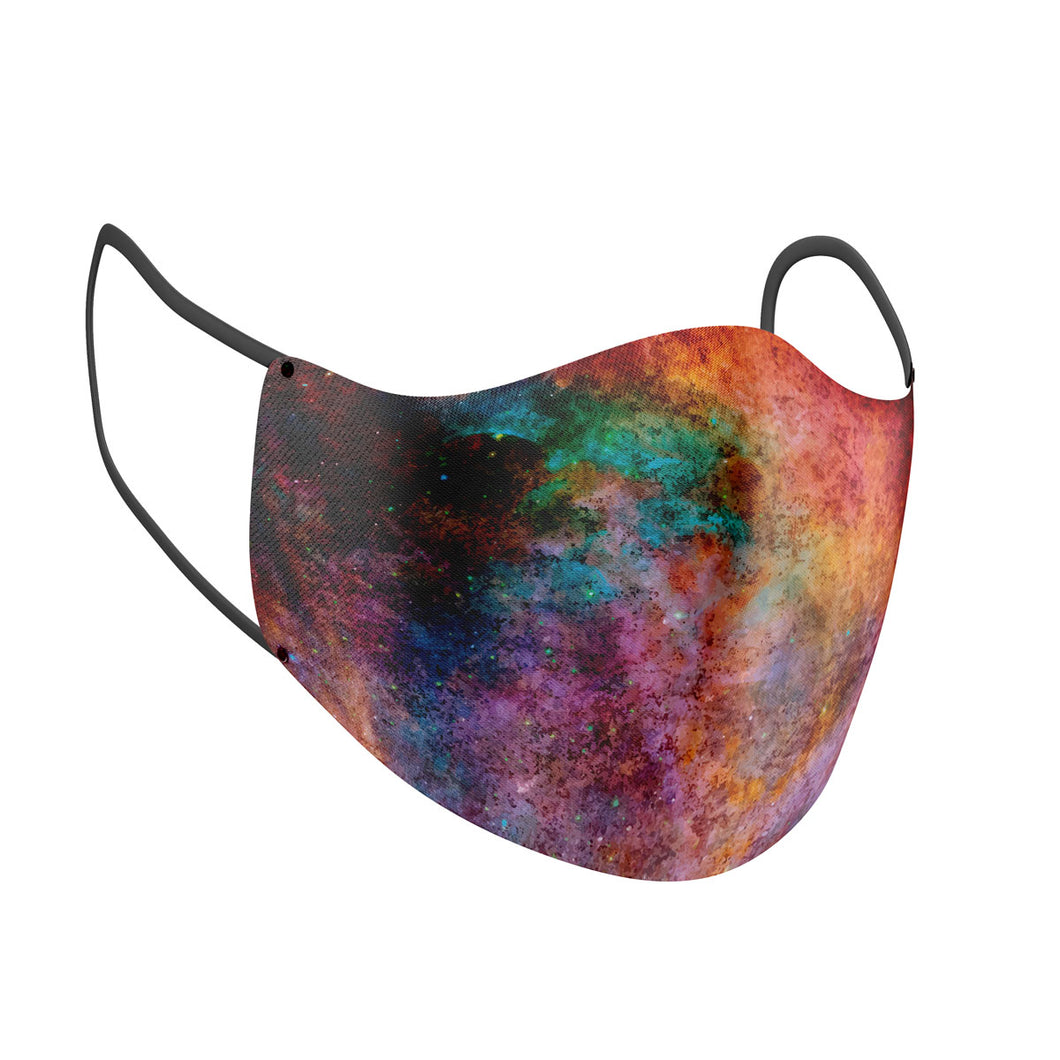 Grunge Galaxy Print Adult Face Mask