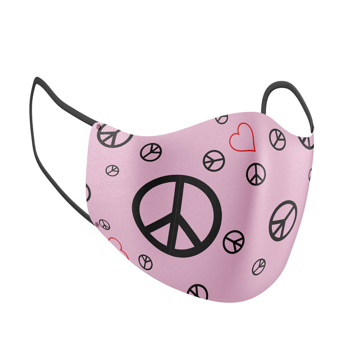 Peace Signs Print Adult Face Mask