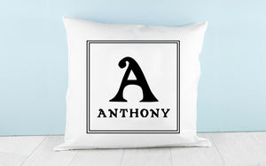 Monogram Throw Pillow Covers Personalized with Initial