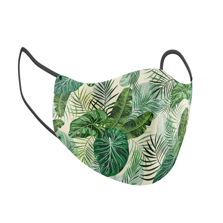 Tropical Green Plants Adult Face Mask