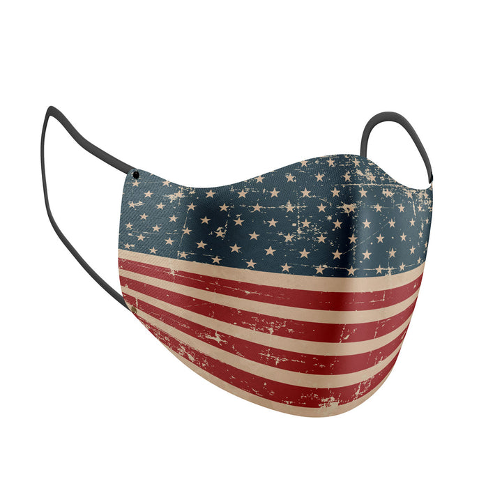 USA Flag Print Adult Face Mask