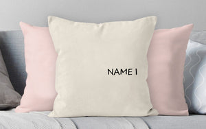 Personalized Family Names Throw Pillow Cover