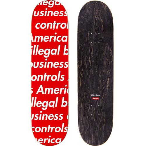 Supreme Illegal Business Skateboard Red