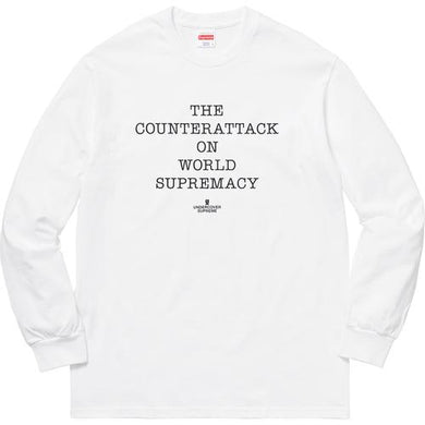 Supreme®/UNDERCOVER/Public Enemy Counterattack Long Sleeve Tee White